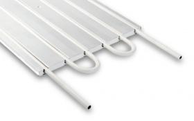 Unterwand-Heizkörper mit integriertem CTX Kupferrohr