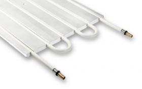 Unterwand-Heizkörper mit integriertemCTX Kupferrohr / Anschluss 15 mm
