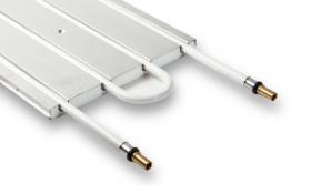 Unterwand-Heizkörper mit integriertem CTX Kupferrohr / Anschluss 15 mm